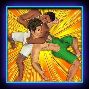 Boy singlet wrestlers